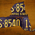 New York State License Plate Map - Empire State Orange Edition by Design Turnpike
