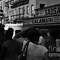 New York Street Fair - Black And White by Miriam Danar