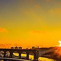 New York Sunset by Misha Gutin
