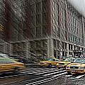 New York Taxi Abstract by Jeff Watts