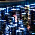 New York - The Night Awakes - Blue I by Hannes Cmarits