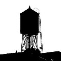 New York Water Tower 17 - Silhouette - Urban Icon by Gary Heller