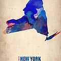 New York Watercolor Map by Naxart Studio