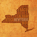 New York Word Art State Map On Canvas by Design Turnpike