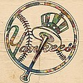 New York Yankees Poster Vintage by Florian Rodarte