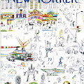 New Yorker January 16th, 1971 by Saul Steinberg