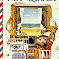 New Yorker Magazine Cover Of A Bedroom By The Sea by Ilonka Karasz