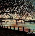 Newburgh Beacon Bridge Sunset by Janine Riley