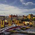 Newcastle Upon Tyne Cityscape And Bridges by Martyn Arnold