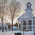 Newfane Village In Snow by Susan Cole Kelly