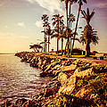Newport Beach Jetty Vintage Filter Picture by Paul Velgos
