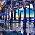 Newport Beach Pier - Low Tide by Jim Carrell
