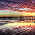 Newport Beach Pier Sunset by Heidi Smith