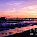 Newport Beach Pier Sunset In Orange County California by Paul Velgos