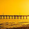 Newport Beach Pier Sunset Panoramic Photo by Paul Velgos