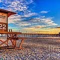 Newport Beach Pier - Wintertime  by Jim Carrell