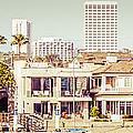 Newport Beach Skyline Vintage Panorama by Paul Velgos