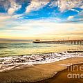 Newport Pier Photo In Newport Beach California by Paul Velgos