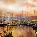 Newport Rhode Island Harbor I by Betsy Knapp