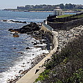 Newport's Cliff Walk View by Christiane Schulze Art And Photography