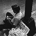 Newspaper Boy Mexico City D.f. Mexico 1970 by David Lee Guss