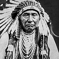 Nez Perce Indian man circa 1903 by Aged Pixel