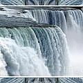 Niagara Falls American Side Closeup With Warp Frame by Rose Santuci-Sofranko