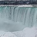 Niagara Falls Canada In Winter by Ray Sheley