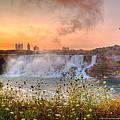 Niagara Falls Canada Sunrise by Wayne Moran