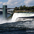 Niagara Falls Closeup And Observation Tower by Rose Santuci-Sofranko