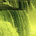 Niagara Falls Closeup Hot Wax Effect by Rose Santuci-Sofranko