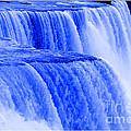 Niagara Falls Closeup In Blue by Rose Santuci-Sofranko