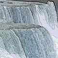 Niagara Falls Contour Drawing Effect by Rose Santuci-Sofranko