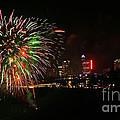 Niagara Falls Fireworks by Charline Xia