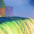 Niagara Falls In Abstract by Allen Meyer