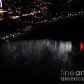 Niagara Falls Nightly Illumination Aerial View by Rose Santuci-Sofranko