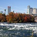 Niagara Falls Skyline From New York by Bill Cobb