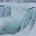 Niagara Falls Usa In Winter by Ray Sheley
