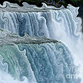 Niagara Falls With Curlicue Effect by Rose Santuci-Sofranko