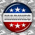 Nice Marines Shield 2 by Pamela Johnson