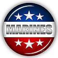 Nice Marines Shield by Pamela Johnson