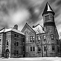 Nicolet School In Black And White by Thomas Young