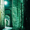 Night Alley In Old City Of Siena Tuscany Italy by Stephan Pietzko