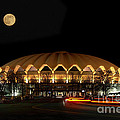 night and moon WVU basketball arena by Dan Friend