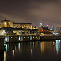 Night At Fairmount Waterworks And The Philadelphia Art Museum by Bill Cannon