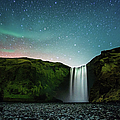 Night At Skógafoss by Naphat Photography