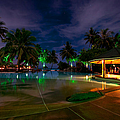 Night At Tropical Resort 1 by Jenny Rainbow
