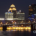 Night Descends Over Louisville City by Deborah Klubertanz