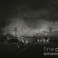 Night Driving - Stanhope Parkway by Sandra D Wilson