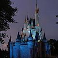 Night Illuminates Cinderella Castle by Lingfai Leung